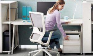 using ergonomic office chairs